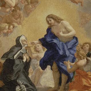 그리스도로부터 영성체를 받는 수녀원장