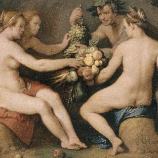 케레스, 바쿠스, 비너스와 에로스