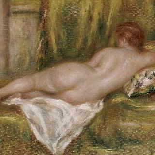 누워 있는 누드, 목욕 후의 휴식