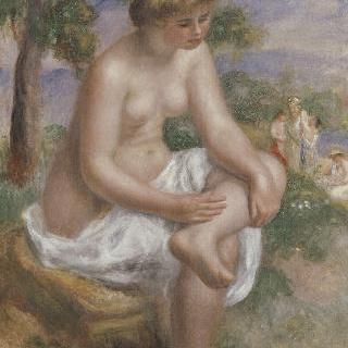 풍경 속에 앉은 목욕하는 여인 (에우리디케)