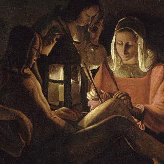 제등을 들고 있는 성 세바스티아누스