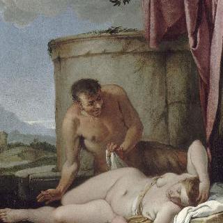 님프를 감시하는 사티로스 (제우스와 안티오페)