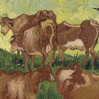 젖소들, 야곱 요르단스와 반 리셀의 작품 모사