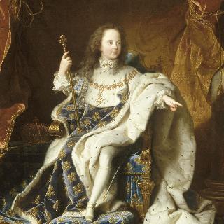 대관식 복장을 입은 어린 루이 15세 (1710-1774)