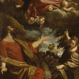 성 루가와 성녀 카타리나에게 나타난 성모의 환영