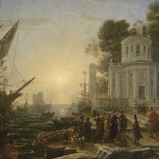 타르스에 배를 정박한 클레오파트라