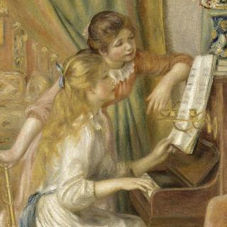 피아노치는 소녀들