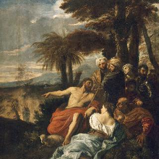 사막에서 복음을 전하는 세례 요한