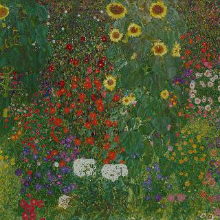 꽃이 있는 농장 정원