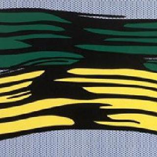 노랑과 초록 붓자국