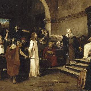 빌라도 앞의 예수 그리스도
