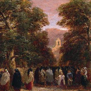 베투스 교회, 웨일스의 장례식 풍경