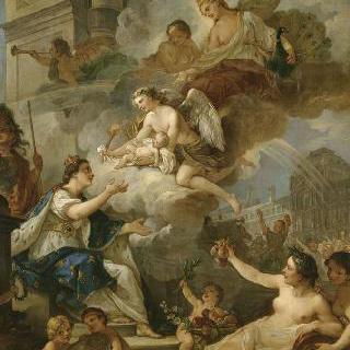 1750년 마리 제피린 드 프랑스의 탄생에 대한 우의화