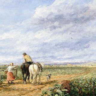 바람 부는 날 : 목초지 가는 길