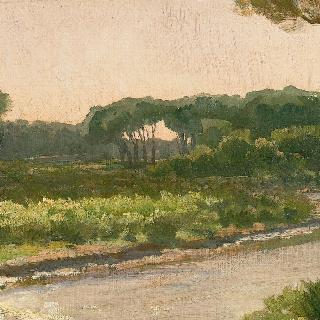 토스카나의 아르노 강 풍경