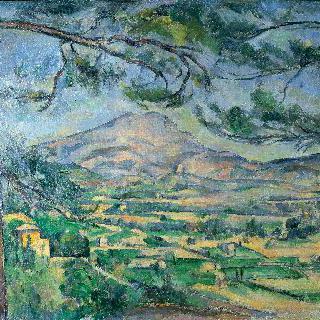 커다란 소나무와 생트 빅투아르 산
