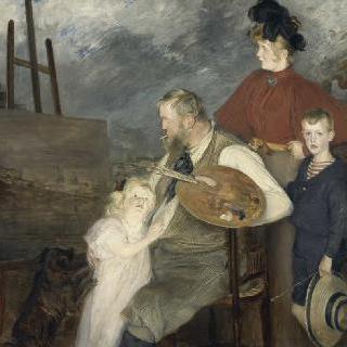 화가 톨로우와 그의 아이들, 일명 톨로우 가족