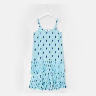 스카이 블루 스티지 캉캉 슬립 드레스