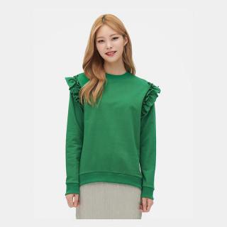 그린 플라운스 포인트 스웨트 셔츠