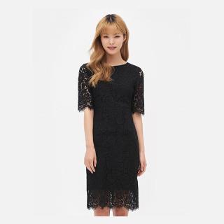 블랙 레이스 드레스