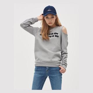 그레이 콜드숄더 스웨트 셔츠 GDragon GD 지드래곤 콜라보