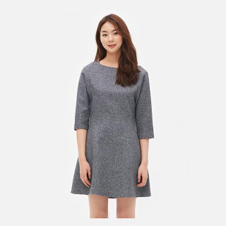 라이트 그레이 핏앤플레어 드레스
