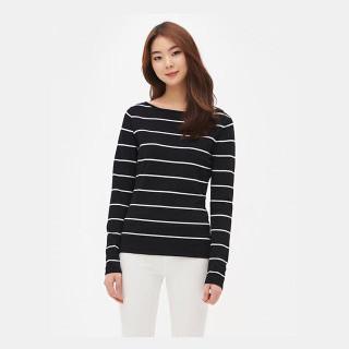 블랙 와이드 슬리브 스웨터