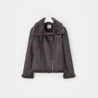 애쉬 인조 무스탕 쇼트 재킷