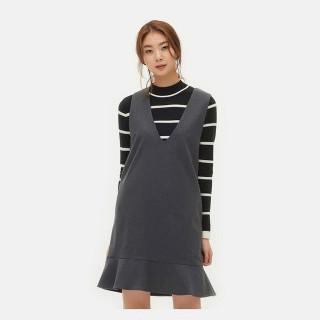 애쉬 기모 피나포어 드레스