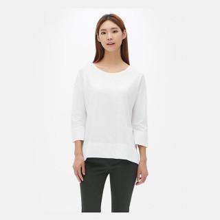 화이트 언밸런스 보트넥 티셔츠