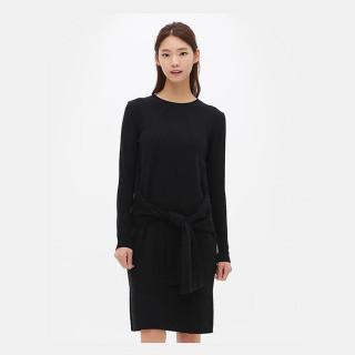 블랙 H라인 니트 드레스