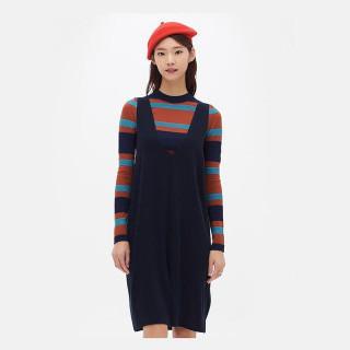 네이비 니트 피나포어 드레스