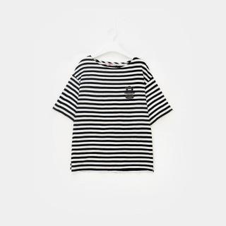 화이트 스트라이프 흥 티셔츠