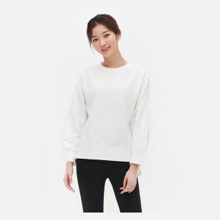 화이트 콤비 스웨트 셔츠