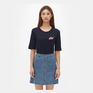 네이비 원포인트 반팔 티셔츠