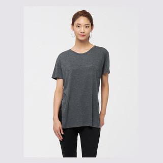 애쉬 저지 슬릿 티셔츠