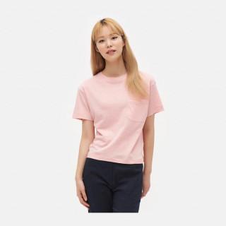핑크 리넨 코튼 포켓 티셔츠