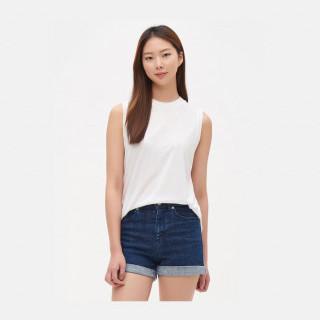 화이트 라운지 슬리브리스 티셔츠