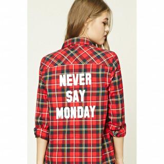Never Say Monday 플레이드 셔츠