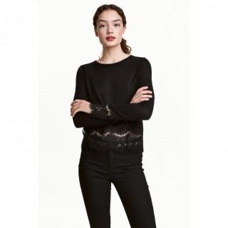 레이스 디테일 스웨터