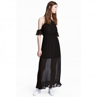시폰 롱 드레스
