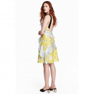 실크 시폰 드레스