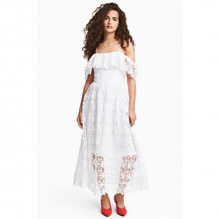 레이스 오프숄더 드레스