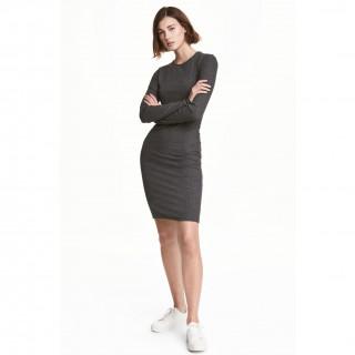 리브드 저지 드레스