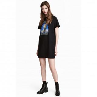 프린트 티셔츠 드레스