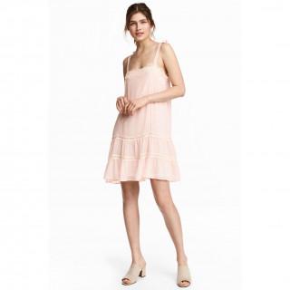 레이스 디테일 슬리브리스 드레스