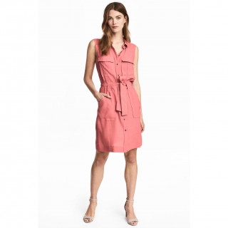 슬리브리스 셔츠 드레스