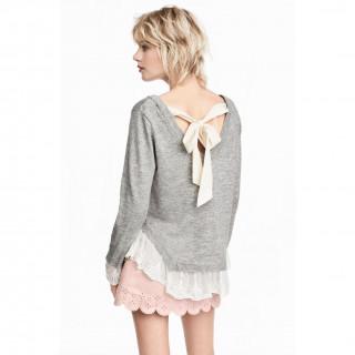 레이스 트리밍 스웨터