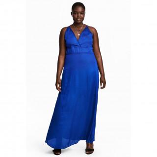 H&M+ 새틴 롱 드레스