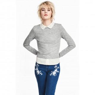 레이어드 파인니트 스웨터